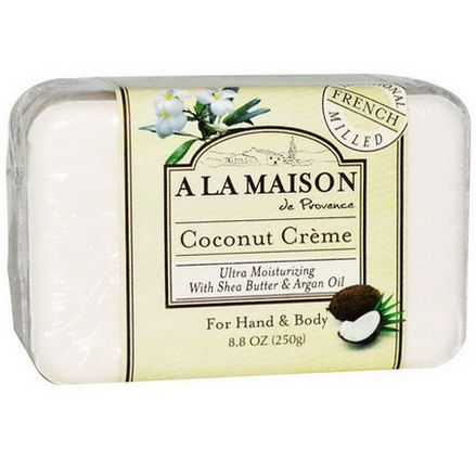 A La Maison de Provence, Hand&Body Bar Soap, Coconut Cream 250g