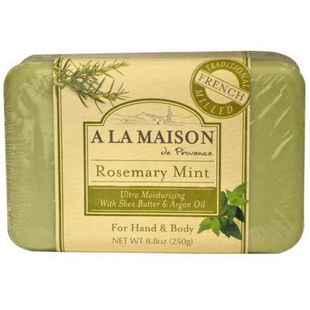 A La Maison de Provence, Hand&Body Bar Soap, Rosemary Mint 250g