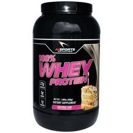 AI Sports Nutrition Anabolic Innovations, 100% Whey Protein, Birthday Cake 896g
