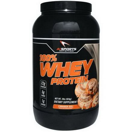 AI Sports Nutrition Anabolic Innovations, 100% Whey Protein, Cinnamon Roll 924g