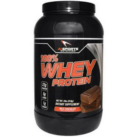 AI Sports Nutrition Anabolic Innovations, 100% Whey Protein, Milk Chocolate 918g