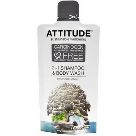 ATTITUDE, 2-in-1 Shampoo&Body Wash Daily Moisturizer 30ml