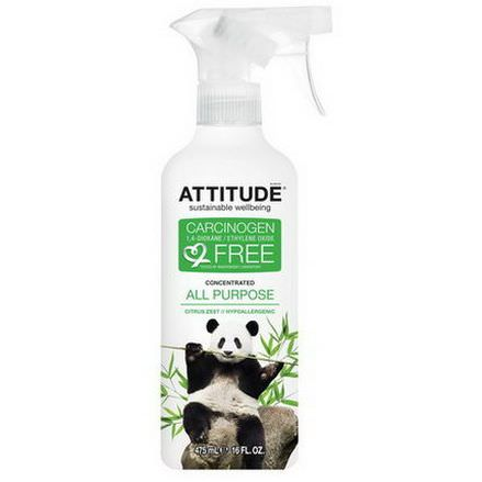 ATTITUDE, Concentrated All Purpose, Citrus Zest 475ml