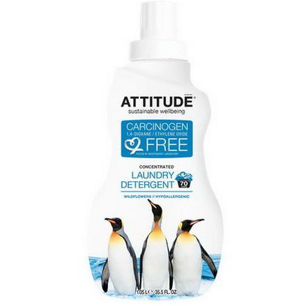 ATTITUDE, Concentrated Laundry Detergent, Wildflowers, 70 Loads 1.05 L