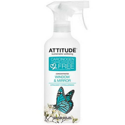 ATTITUDE, Concentrated Window&Mirror, Citrus Zest 475ml