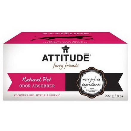 ATTITUDE, Furry Friends, Natural Pet Odor Absorber, Coconut Lime 227g