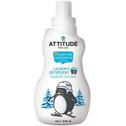 ATTITUDE, Little Ones, Laundry Detergent, Fragrance-Free 1.05 l