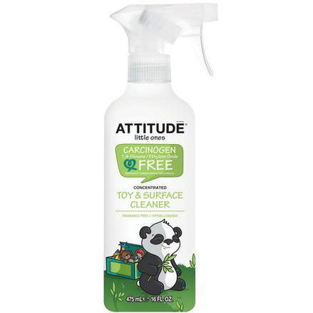 ATTITUDE, Little Ones, Toy&Surface Cleaner, Concentrated, Fragrance Free 475ml