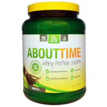 About Time, Whey Protein Isolate, Vanilla 908g