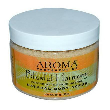 Abra Therapeutics, Natural Body Scrub, Blissful Harmony, Patchouli and Frankincense 283g