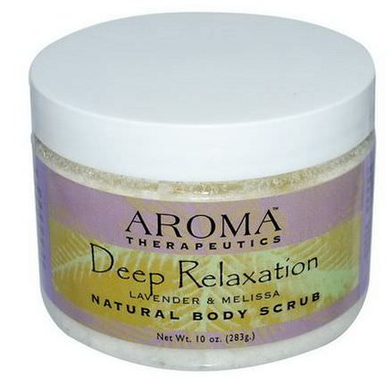 Abra Therapeutics, Natural Body Scrub, Deep Relaxation, Lavender and Melissa 283g