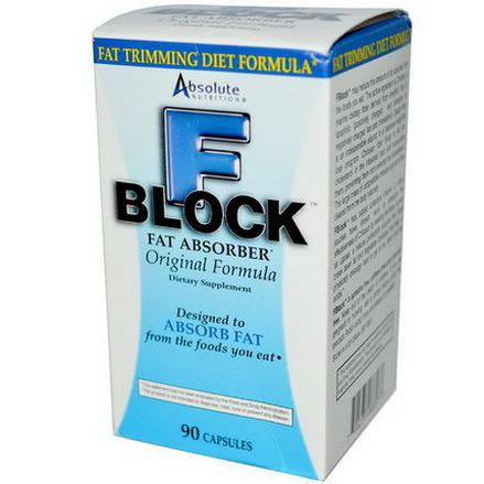 Absolute Nutrition, FBlock, Fat Absorber, 90 Capsules