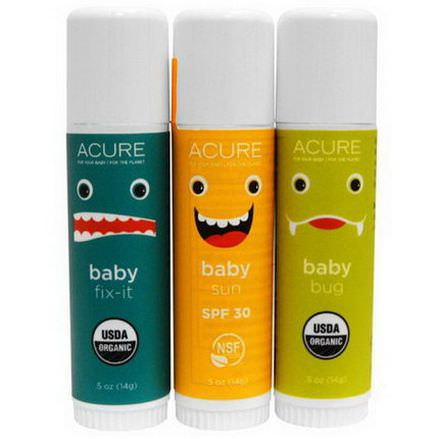 Acure Organics, Baby's Day Out Kit, 3 Pack 14g Each