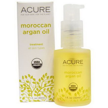 Acure Organics, Moroccan, Argan Oil Treatment, All Skin Types 30ml