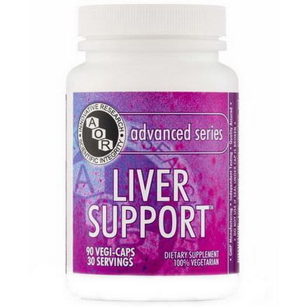 Advanced Orthomolecular Research AOR, Advanced Series, Liver Support, 90 Veggie Caps