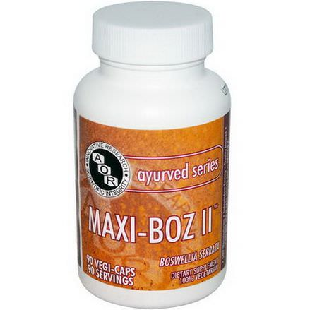 Advanced Orthomolecular Research AOR, Ayurved Series, Maxi-Boz II, 90 Veggie Caps