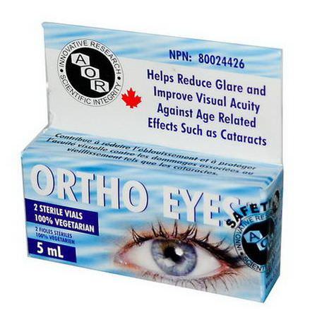 Advanced Orthomolecular Research AOR, Ortho Eyes, 2 Sterile Vials, 5ml