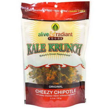 Alive&Radiant, Kale Krunch, Cheezy Chipotle 63g