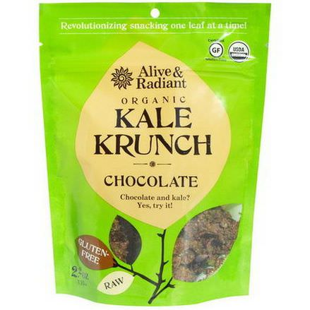 Alive&Radiant, Organic Kale Krunch, Chocolate 63g