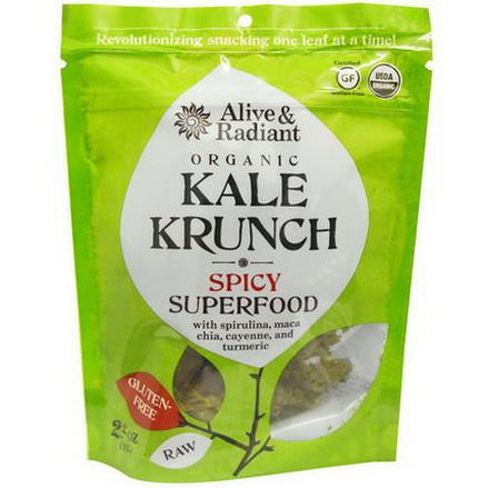 Alive&Radiant, Organic Kale Krunch, Spicy Superfood 63g