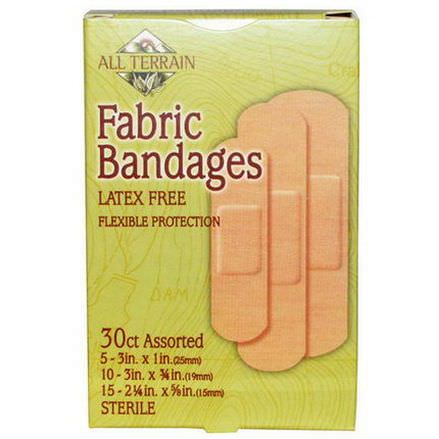 All Terrain, Fabric Bandages, Latex Free, Assorted, 30 Count