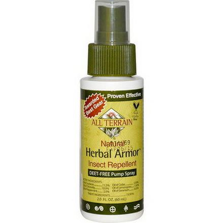All Terrain, Herbal Armor, Insect Repellant DEET-Free Pump Spray 60ml