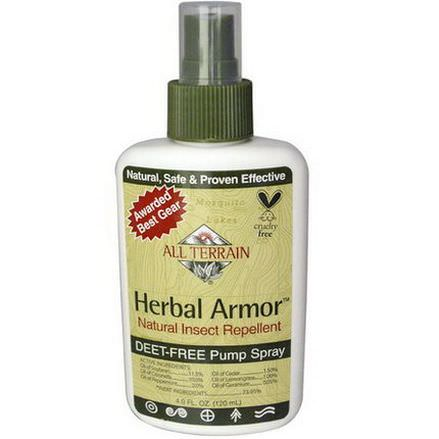All Terrain, Herbal Armor, Natural Insect Repellent Deet-Free Pump Spray 120ml