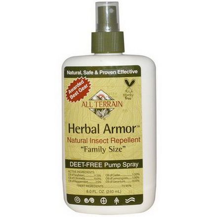 All Terrain, Herbal Armor, Natural Insect Repellent, Deet-Free Pump Spray 240ml
