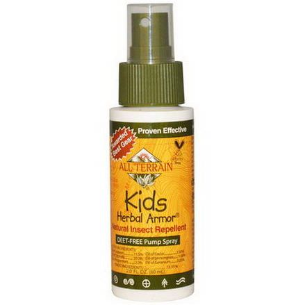 All Terrain, Kids Herbal Armor, Natural Insect Repellent, Deet-Free Pump Spray 60ml