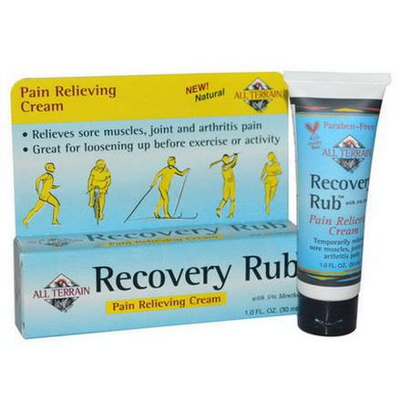 All Terrain, Recovery Rub, Pain Relieving Cream 30ml