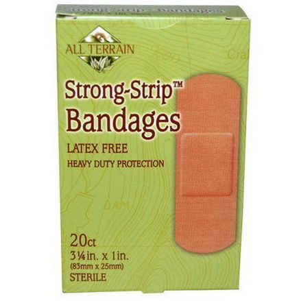 All Terrain, Strong-Strip Bandages, Sterile, 20 Count 83mm x 25mm