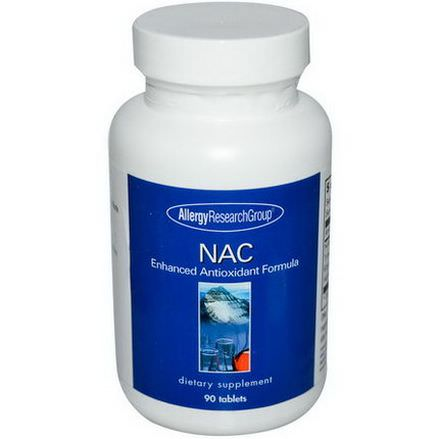 Allergy Research Group, NAC, Enhanced Antioxidant Formula, 90 Tablets