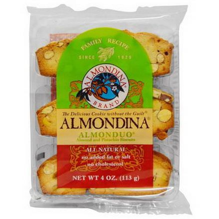 Almondina, Almonduo, Almond and Pistachio Biscuits 113g