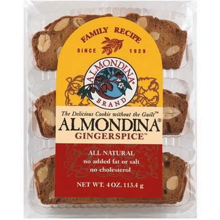 Almondina, Gingerspice, Almond and Ginger Biscuits 113g
