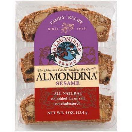 Almondina, Sesame, Sesame and Almond Biscuits 113g