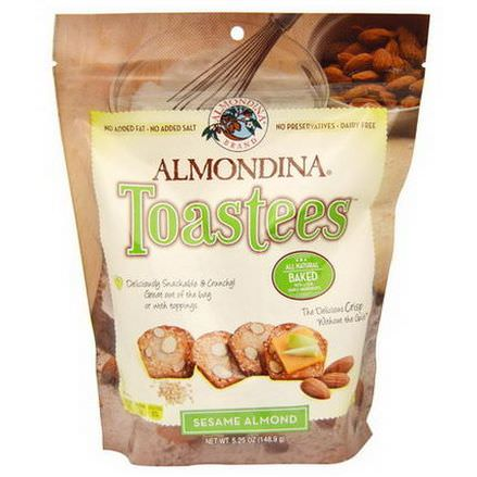 Almondina, Toastees, Sesame Almond 148.9g