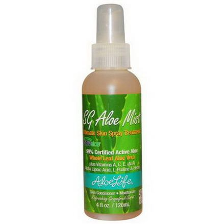 Aloe Life International, Inc, SG Aloe Mist, Grapefruit Scent 120ml