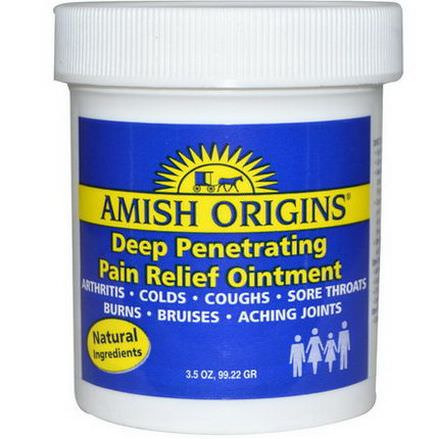 Amish Origins, Deep Penetrating Pain Relief Ointment 99.22g