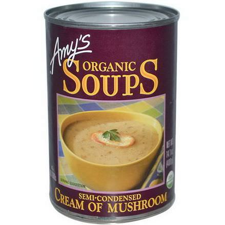 Amy's, Organic Soups, Cream of Mushroom 400g