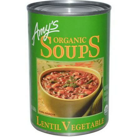 Amy's, Organic Soups, Lentil Vegetable 411g