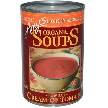 Amy's, Organic Soups, Low Fat Cream of Tomato, Light in Sodium 411g