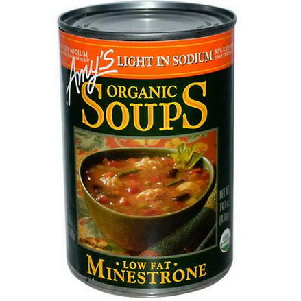 Amy's, Organic Soups, Low Fat Minestrone, Light in Sodium 400g