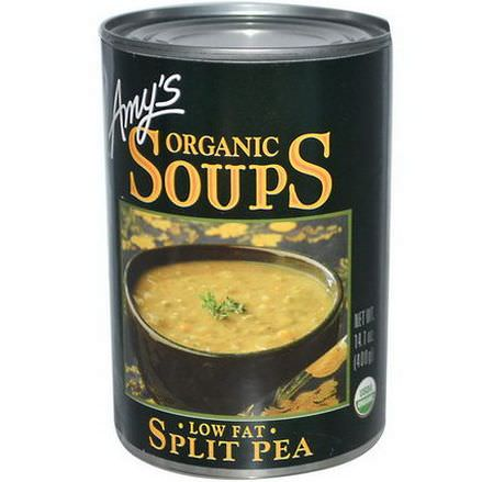 Amy's, Organic Soups, Split Pea, Low Fat 400g