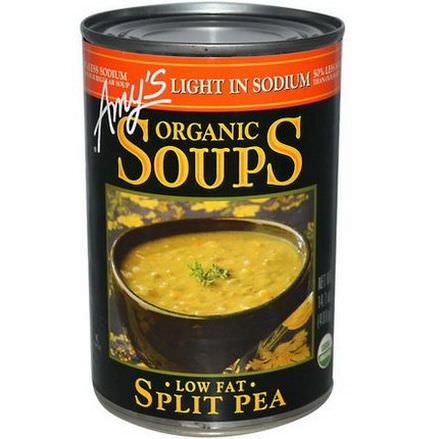 Amy's, Organic Soups, Split Pea, Low Fat, Light in Sodium 400g