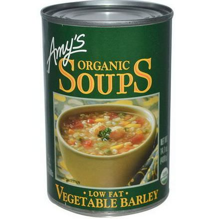 Amy's, Organic Soups, Vegetable Barley, Low Fat 400g