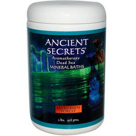 Ancient Secrets, Lotus Brand Inc. Aromatherapy Dead Sea Mineral Baths, Evergreen Forest 908g