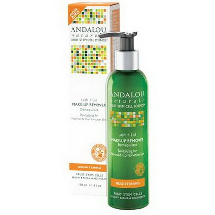 Andalou Naturals, Lash Lid Make-Up Remover, Brightening 178ml
