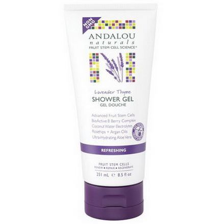 Andalou Naturals, Refreshing Shower Gel, Lavender Thyme 251ml