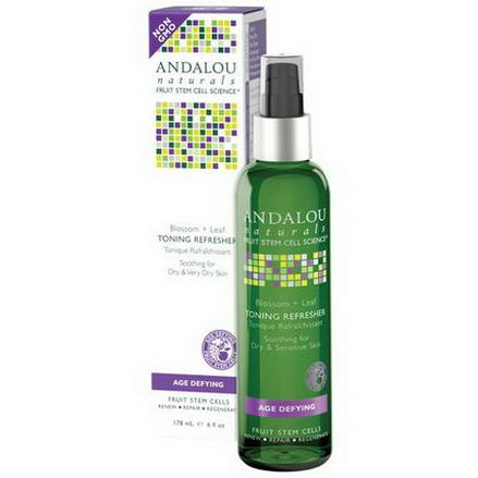 Andalou Naturals, Toning Refresher, Blossom Leaf, Age Defying 178ml