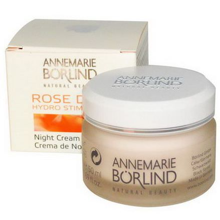 AnneMarie Borlind, Hydro Stimulant Night Cream, Rose Dew 50ml
